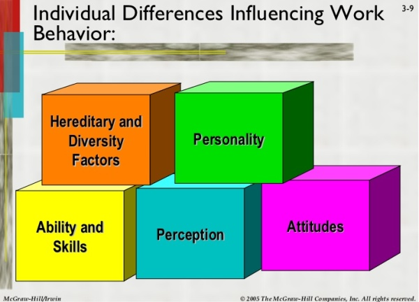individual differences in the workplace The effects of individual differences and charismatic leadership on workplace aggression willie hepworth and annette towler university of colorado at denver.